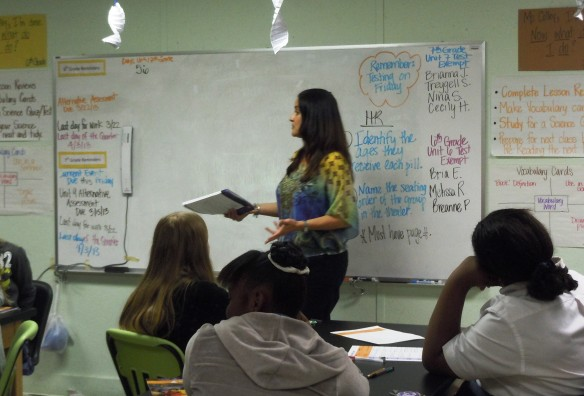 Coleen Logan, Citi, taught at JA Girl$ group at Waverly Academy.