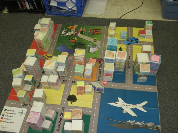 Students built a city of their own as they learned about the different roles in a community.