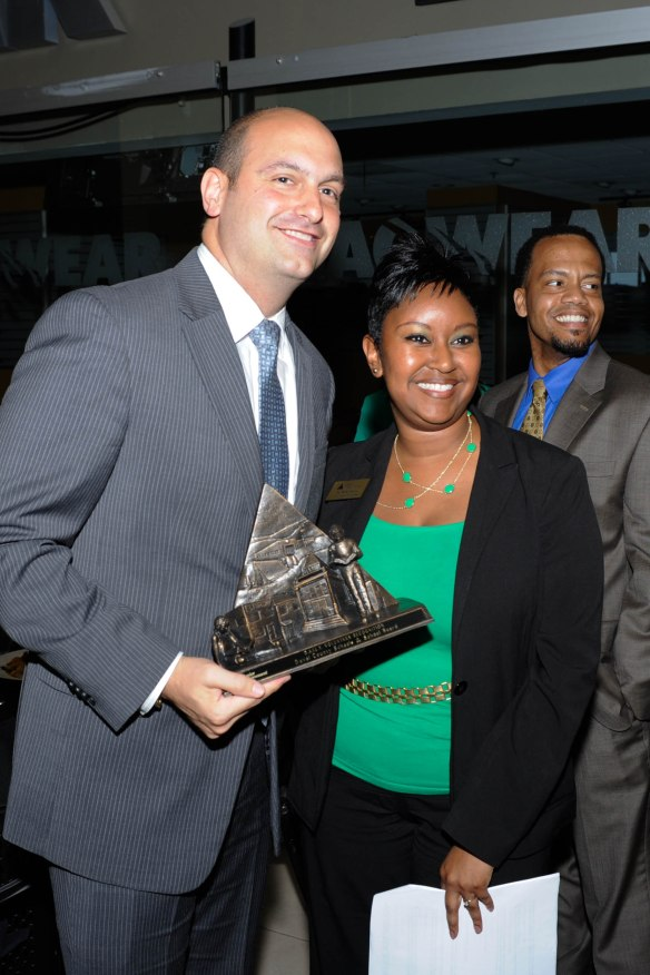 Superintendent Vitti with JA Vice President of Programs, Tia Leathers.