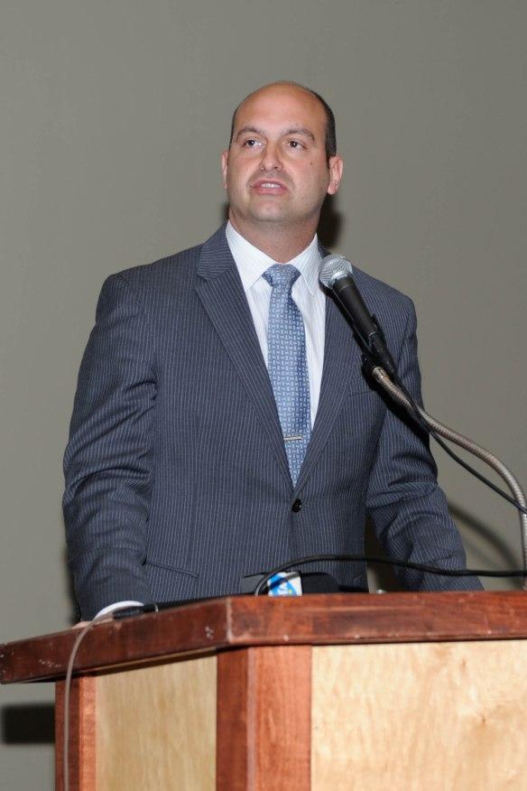 Keynote speaker Dr. Nikolai Vitti addresses the crowd.