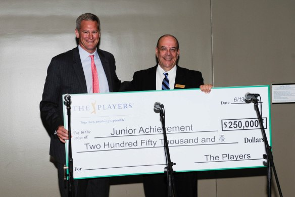 THE PLAYERS made a third five-year grant to Junior Achievement, presenting JA with $250,000.