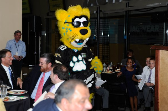 Jaguars mascot Jaxon DeVille made a surprise appearance.