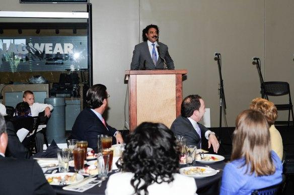 2013 Thompson S. Baker Award recipient, Shad Khan.