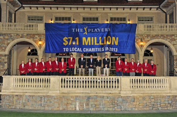 PONTE VEDRA BEACH, FL - NOVEMBER 14: Giving Back Month: THE PLAYERS 2013 Charity Announcement at TPC Sawgrass Presentation Lawn with PGA TOUR Commissioner Tim Finchem and the tournament volunteer leadership on November 14, 2013 in Ponte Vedra Beach, Florida. (Photo by Jennifer Perez/PGA TOUR)
