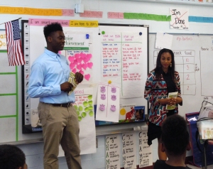 JA Work$ students received work readiness training before performing their job assignment of teaching elementary students.