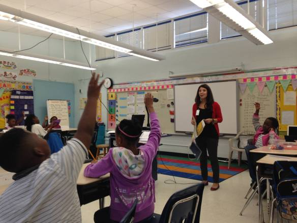 Duval County Schools volunteer teaching JA Our City to 3rd graders at Susie E. Tolbert Elementary.