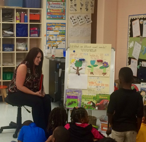Michelle Crumpley taught JA Ourseoves to kindergarten and introduced the concepts of trade, needs and wants.