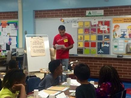 Luiz Rabelo taught JA Our City to third grade.