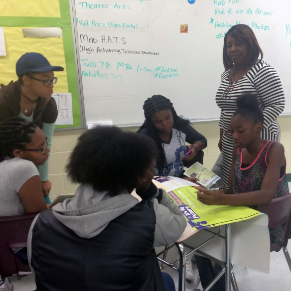 JA Girl$ at The Bridge of Northeast Florida summer camp had girls research different careers and skill requirements.