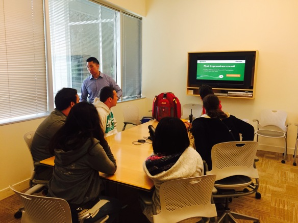 Students learned about characteristics of successful job candidates during this breakout sessions with Fidelity Investments employee.
