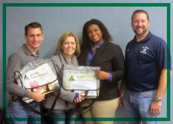 Junior Achievement of North Florida JA in a Day volunteers