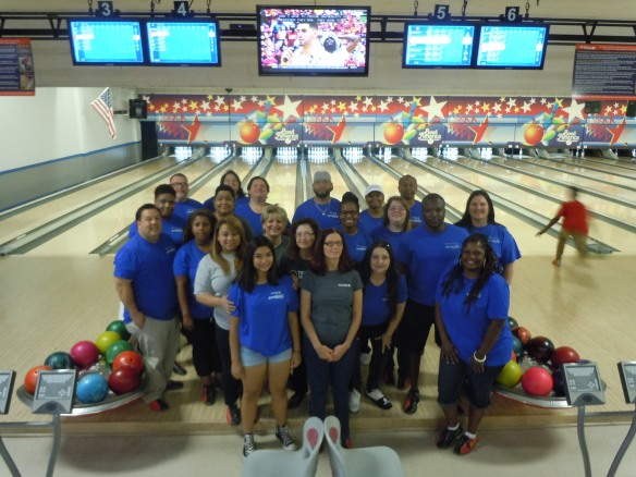 Chase bowlers at Junior Achievement Bowl A Thon