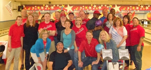 Wells Fargo bowlers at Junior Achievement Bowl-A-Thon