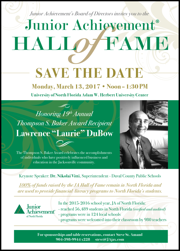 JA Hall of Fame honoring Lawrence