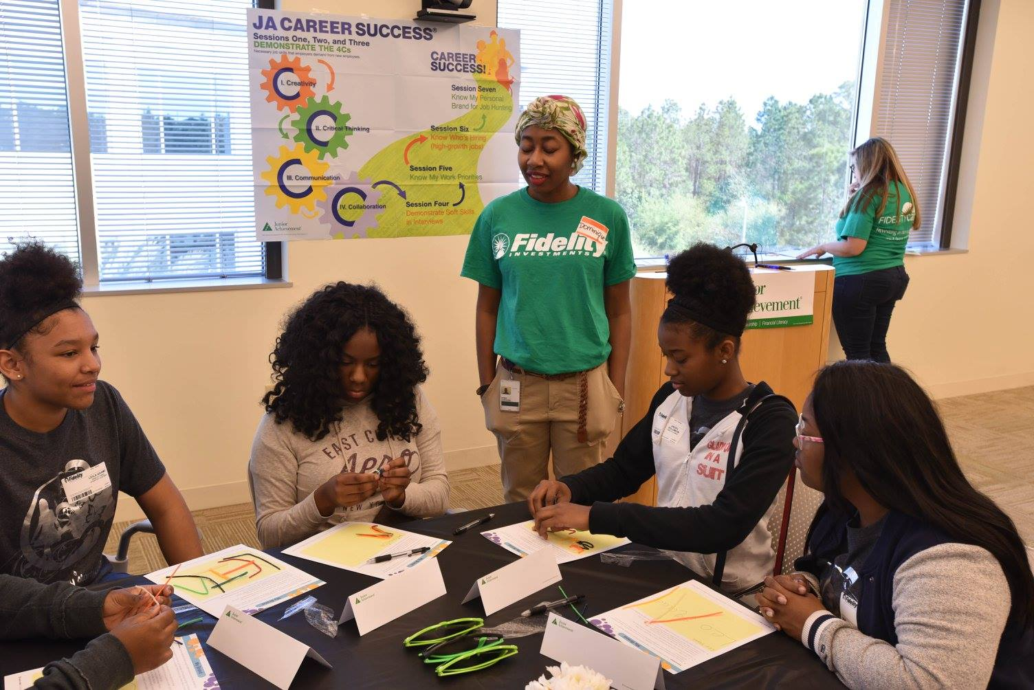Fidelity Investments women inspire JA Girl$ participants