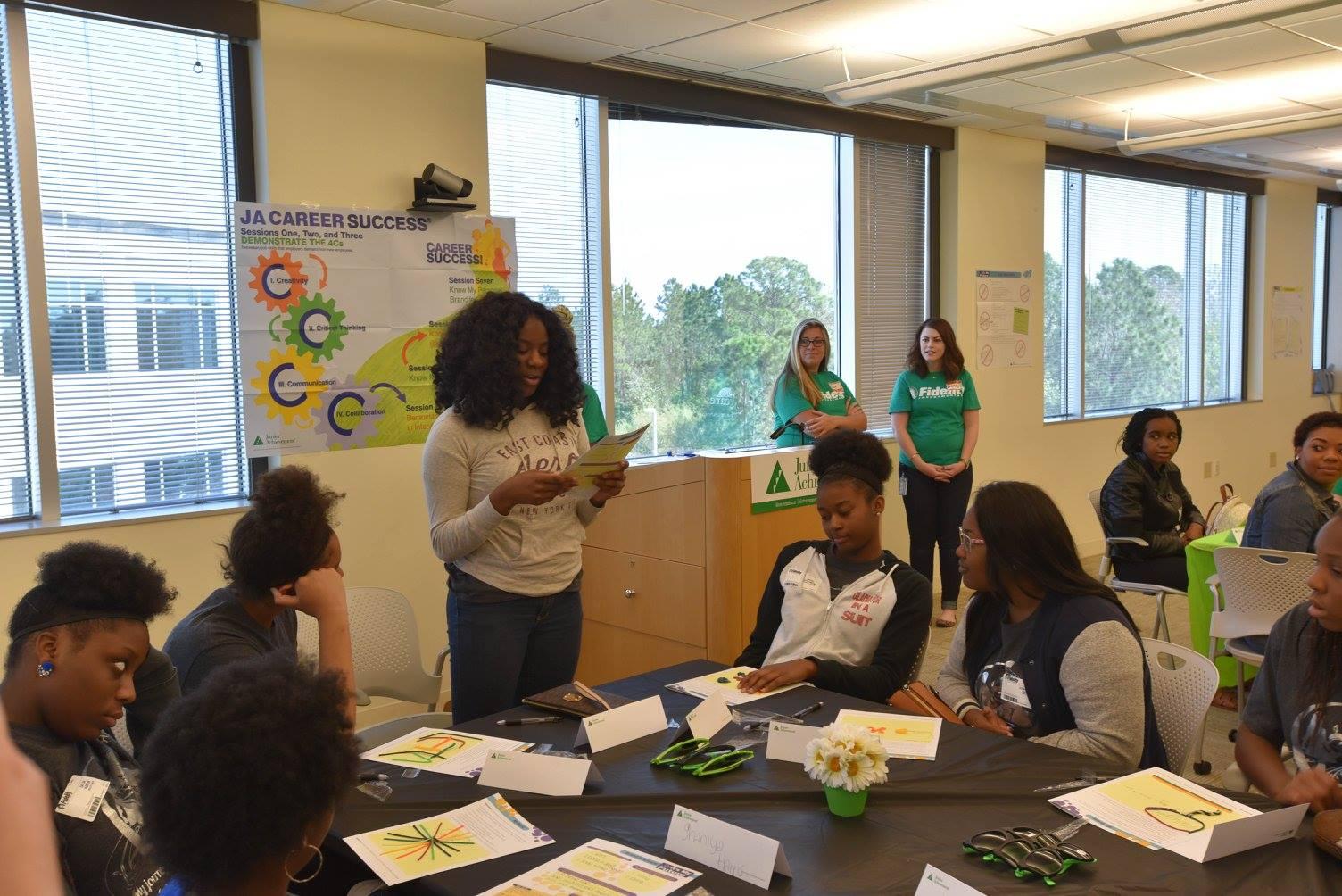 Fidelity Investments women inspire JA Girl$ participants